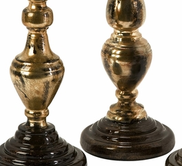 Simone Metallic Candleholders (Set of 3) - IMAX - 12942-3