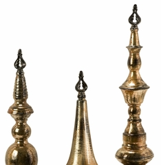 Simone Metallic Finials (Set of 3) - IMAX - 12938-3