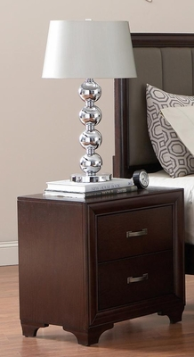 Simone Night Stand in Cappuccino - 202182
