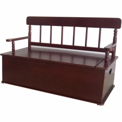 Simply Classic Bench Seat with Storage in Cherry - LOD33055