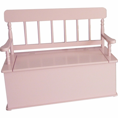 Simply Classic Bench Seat with Storage in Pink - LOD33058