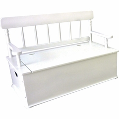 Simply Classic Bench Seat with Storage in White - LOD33057