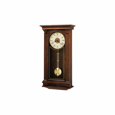 Sinclair Chiming Wall Clock in Cherry Bordeaux - Howard Miller