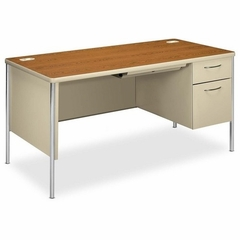 Single Desk - Medium Oak - HON88263RML