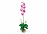 Single Phalaenopsis Liquid Illusion Silk Flower Arrangement in Mauve - Nearly Natural - 1104-MA
