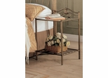 Singleton Iron Nightstand with Shelf - 300172