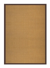 "Sisal Rug - 30"" x 108"" - Sisal Boucle Weave with Brown Cotton Border - AMB0108-0269"
