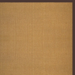 Sisal Rug - 9' x 12' - Sisal Boucle Weave with Brown Cotton Border - AMB0108-0912