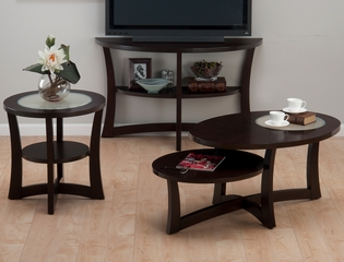 Skylash Espresso 3PC Accent Table Set - 347-1