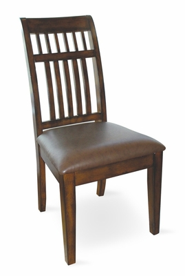Slat Back Chair (Set of 2) in Antique Cherry / Mocha - D351-65P