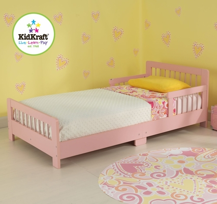 Slatted Pink Toddler Bed - KidKraft Furniture - 86925
