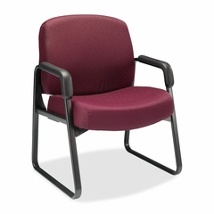 Sled-Base Guest Chair - Wine - HON3516NT69T