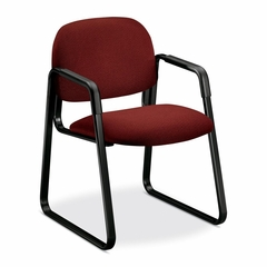 Sled Guest Chair - Burgundy/Black - HON4008AB62T