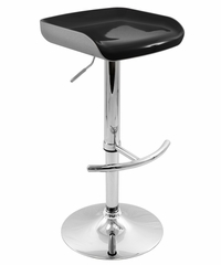 Sleek Barstool Silver/Black Seat - LumiSource - BS-AW-SLK-SV-BK