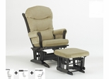 Sleigh Multiposition and Recliner Glider with Ottoman Combo - Dutailier - C20-81A