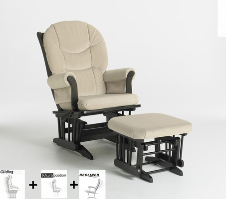 Sleigh Multiposition and Recliner Glider with Ottoman Combo - Dutailier - C20-81C