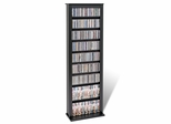 Slim Barrister Tower in Black - Prepac Furniture - BMB-0400