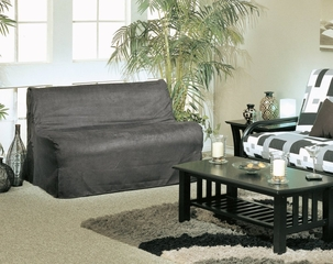 Slipcover for Full Size E-Frame in Black - Deco Pleated - 33-1414-601