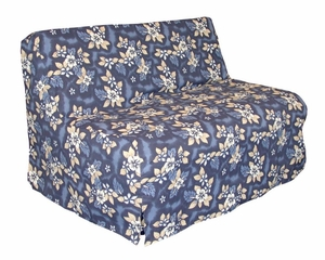 Slipcover for Full Size E-Frame in Oahu Blue - Deco Pleated - 33-1414-681