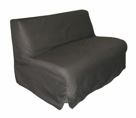Slipcover for Twin Size E-Frame in Black - Deco Pleated - 33-1413-601
