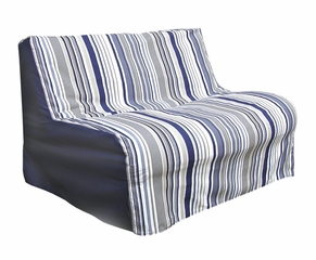 Slipcover for Twin Size E-Frame in Newport Blue - Deco Pleated - 33-1413-637