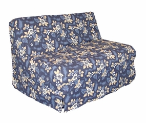 Slipcover for Twin Size E-Frame in Oahu Blue - Deco Pleated - 33-1413-681