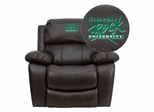 Slippery Rock University Brown Leather Rocker Recliner  - MEN-DA3439-91-BRN-41070-EMB-GG