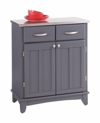 Small Buffet with Stainless Top in Grey - Home Styles - 5001-0082