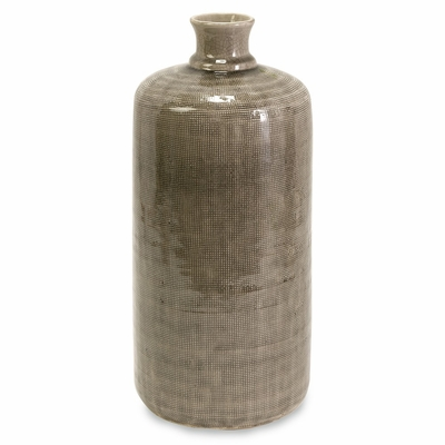 Small Kempton Grey Jar - IMAX - 64069