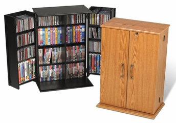 Small Locking Media Storage Cabinet in Black - Prepac Furniture - BVS-0136