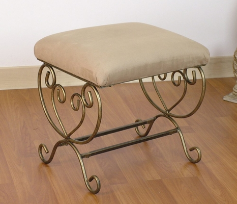 Small Metal Bench in Beige - 4D Concepts - 553831