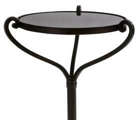 Small Metal Table with Marble Top - IMAX - 12289