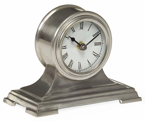 Small Pewter Finish Desk Clock - IMAX - 7865