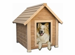 Small Size Bunkhouse Style Dog House in Natural Cedar - NewAgeGarden - ECOH101S