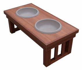 Small Size Mission Raised Pet Diner in Chestnut - NewAgeGarden - EHHF101S