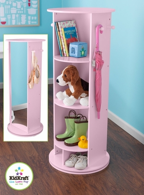 Small Swivel Vanity in Pink - KidKraft Furniture - 12553