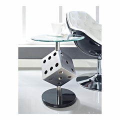 Snake Eyes Metal and Glass Table - Powell Furniture - POWELL-989-269