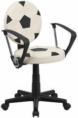 Soccer Task Chair with Arms - BT-6177-SOC-A-GG