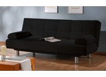 Sofa Bed Convertible in Black - Aruba - CC-ARB2-D2-BK