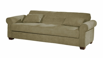 Sofa Bed Convertible in Olive - Roxbury - CC-ROX-OV-SET