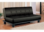 Sofa Bed in Black Vinyl - Coaster - 300163