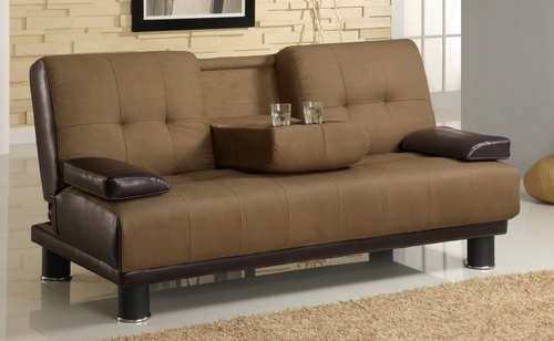 Sofa Bed in Tan / Brown - Coaster - 300134