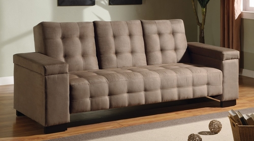 Sofa Bed in Tan Microfiber - Coaster - 300146