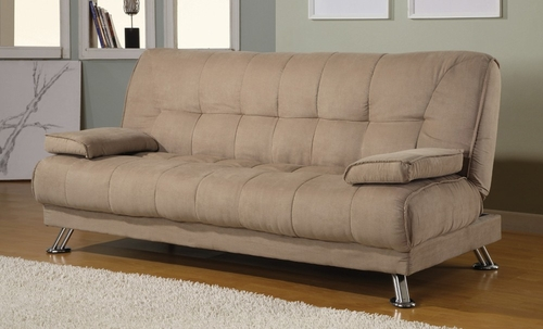 Sofa Bed in Tan Microfiber - Coaster - 300147