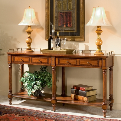 Sofa Console Table in Plantation Cherry - Butler Furniture - BT-0770024