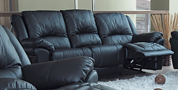 Sofa in Black Leather - Coaster