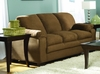 Sofa in Brown Microfiber - 9840BR-3
