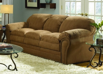 Sofa in Brown Microfiber - 9841BR-3