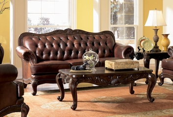 Sofa in Brown Tri-Tone Leather - Coaster