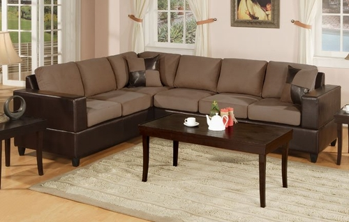 Sofa Sectional Set in Saddle - F7632